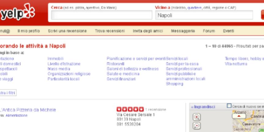 Yelp, arriva anche in Italia il nuovo modo di recensire gli Hotel!