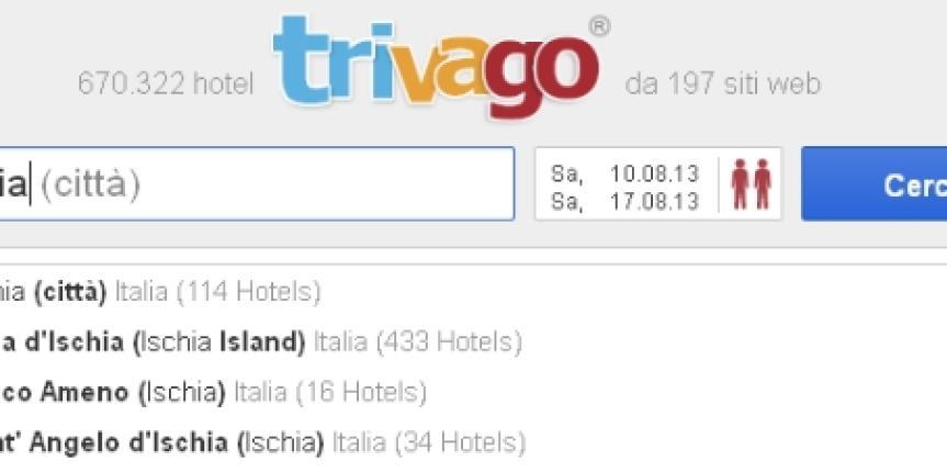 Ischia nella Top Ten delle mete più ricercate Estate 2013 su Trivago